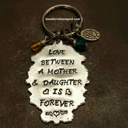 Love Between A Mother & Daughter Is Forever Pewter Ornate Oval