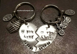 I Love You More/Mostest Broken Heart Key Chain Set