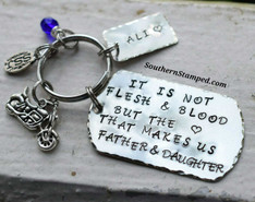 It Is Not Flesh And Blood Step-Dad Key Chain