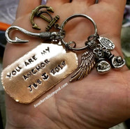 You Are My Anchor Copper Dog Tag With 2 Charms