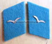 sbbs014 - 3 - pair of NVA Air Force enlisted EM Collar Tabs - Dress Uniform