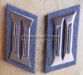 sbbs012 - 5 - pair of Prison Service Strafvollzug non-Officer Uniform Collar Tabs