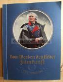 cig010 - c1935 VOM WERDEN DEUTSCHER FILMKUNST cigarette card book - German Movie History including 3rd Reich propaganda movies