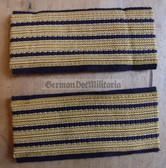om678 - 2 - Volksmarine - Staboberfaehnrich Sleeve rank bands stripes - pair