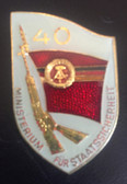 om960 - original MfS Stasi Staatssicherheit 40 years anniversary badge - Erich Mielke - very scarce