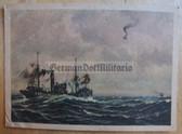 kmpc037 - Kriegsmarine shooting down enemy plane at sea postcard