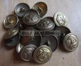 sbbs038 - 20 - Volksmarine Dress Uniform Buttons - price is per button