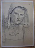 opc416 - c1942 WOLFGANG WILLRICH postcard - BAUERNTOCHTER AUS NIEDERSACHSEN - DEUTSCHER BLUTADEL SERIES