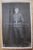 wpc451 - Wehrmacht studio portrait photo - Gefreiter with Eastern Front medal ribbon