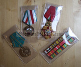 om048 - lot of 5 acid free medal storage pouches