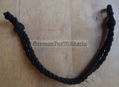 om719 - black chin strap cord for FFW Feuerwehr Fire Fighter non-officer visors
