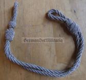 om724 - 22 - silver metallic chin strap cord NVA Grenztruppen Volkspolizei GST officer visors