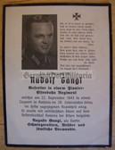 dc075 -  Gefreiter Rudolf Gangl - Railways Regiment - kia in Russia in September 1943 - death card
