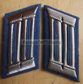 sbbs040 - Transportpolizei TraPo Transport Police officer Collar Tabs - Dress Uniform