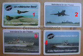 opc421 - 13 - military East German credit card size calendars as pocket fillers for your NVA uniforms
