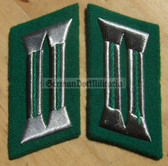 sbbs047 - pair of BePo Bereitschaftspolizei Riot Police enlisted EM Collar Tabs - Dress Uniform