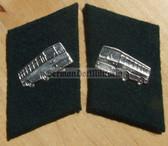 sbbs045 - East German Public Transport Bus Driver Collar Tabs - Dress Uniform