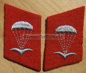sbbs034 - NVA Paratrooper Fallschirmjaeger Collar Tabs - Dress Uniform