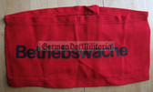 wo032 - 5 - East German BETRIEBSWACHE - factory works security - armband