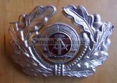 sbbs048 - 14 - NVA Army and Grenztruppen EM non-officer Visor Hat insignia - visor cockade