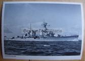 kmpc001 - Kriegsmarine Light Cruiser Kreuzer postcard