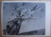 lwpc011 - Luftwaffe Messerschmitt Me109 shoots down French Morane fighter postcard