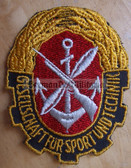 om097 - GST SLEEVE PATCH - paramilitary youth organisation