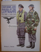 lwb008 - UNIFORMS AND INSIGNIA OF THE LUFTWAFFE 1933-1945 - volume 2 - superb reference book by Brian L Davis