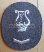 om092 - NVA Army Militärmusiker Music Troops qualification sleeve patch