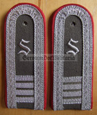 sblarx018 - embroidered S - OFFIZIERSSCHUELER YEAR 4 - Artillerie - Artillery - pair of shoulder boards