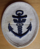 om190 - Maat Volksmarine Verwaltung - Administrative Service - sleeve patch - white
