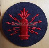 om233 - Volksmarine Waffenleit - Weapons Guidance Specialist Sleeve Patch for EM & NCO - blue