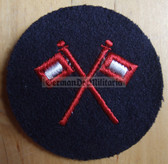 om231 - Volksmarine Signal - Signaller Specialist Sleeve Patch for EM & NCO - blue