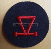 om230 - Volksmarine E-MESS - Trigonometry Specialist Sleeve Patch for EM & NCO - blue