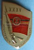 om955 - original MfS Stasi Staatssicherheit 35 years anniversary badge - Erich Mielke