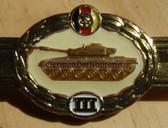 qs008 - Qualifizierungsspange qualification clasp PANZER tank troops - worn on uniforms