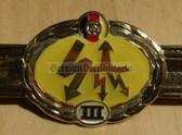 qs009 - Qualifizierungsspange qualification clasp NACHRICHTENTRUPPEN signallers - worn on uniforms