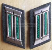 sbbs009 - 2 - pair of Grenztruppen Officer Collar Tabs - Dress Uniform