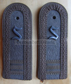 sbfd017 - 3 - FELDDIENST OFFIZIERSSCHUELER YEAR 3 - all branches of the army and border guards - pair of shoulder boards