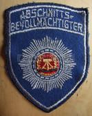 sbtp037x - ABSCHNITTSBEVOLMAECHTIGTER SLEEVE PATCH - Transportpolizei TraPo - Transport Police