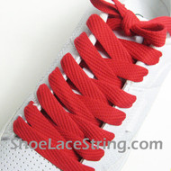 Red 54INCH Fat Laces Red Flat Wide/Fat Shoe Strings 2Pairs
