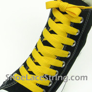 Golden Yellow 54IN Fat Laces Gold Wide/Fat Shoe Strings 2Pairs