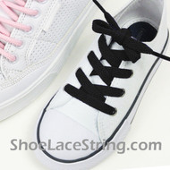 Kids 27INCH Black ShoeLaces Childs Black ShoeStrings 2Pairs