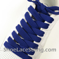 Blue 54INCH Fat Laces Blue Flat Wide/Fat Shoe Strings 2Pairs