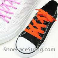 Kids Neon Orange 27INCH ShoeLaces Neon Orange ShoeStrings 2Pairs