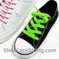 Kids Neon Green 27INCH ShoeLaces Neon Green ShoeStrings 2Pairs