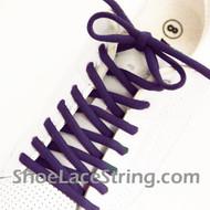 Purple 54INCH Oval Shoe Lace Purple  Oval Shoe String 2Pairs