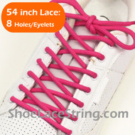 Hot Pink 54INCH Round Shoe Lace HotPink Round Shoe String 2PAIRS