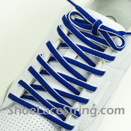 Blue and White Oval Shoe Lace Oval Shoe String 2Pairs