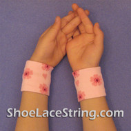 Pink with Sakura Flowers Cute Kids Wrist Bands for Party,  2PAIR